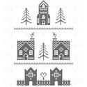 Karácsonyi falikép, téli, ünnepi témájú dekoráció, digitális nyomat kerettel, Dekoráció, Kép, Ünnepi dekoráció, Karácsonyi, adventi apróságok, Karácsonyi tematikájú, monokróm, pixelmintás digitális kép. Az egyedi tervezésű nyomat modern, letis..., Meska