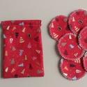 Karácsonyi 6 db-os Nowaste mosható arctisztitó korong, Ezekkel a karácsonyi anyagokból, egyedileg kész...