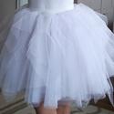 fehér tüllszoknya, Ruha, divat, cipő, Esküvői ruha, Női ruha, Szoknya, Fehér tüllszoknya többféle méretben., Meska