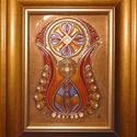Tulipán tűzzománc kép, Magyar motívumokkal, Otthon, lakberendezés, Dekoráció, Falikép, Képeim alapja vörösréz lemez, a kontúrokat szintén vörösréz szalagocskákból hajtogatom ki fogóval, c..., Meska