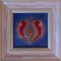 Szív tűzzománc kép, Otthon, lakberendezés, Dekoráció, Falikép, Kép, Vidám, fiatalos, szeretettel teli. Egy szív, melyben a modern, letisztult elegancia és a hagyományok..., Meska