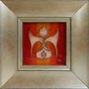 Tulipán tűzzománc kép, Otthon, lakberendezés, Dekoráció, Falikép, Kép, Ragyogó, tüzes, háttérből emelkedik ki ez a tiszta, légies, és letisztult tulipánforma. Ragyogó, tüz..., Meska