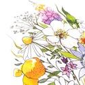 Vadvirágok_A4-es nyomat, Képzőművészet, Dekoráció, Napi festmény, kép, Kép, Vadvirág csokrot ábrázoló akvarell festményemről készült ez a nyomat, 250g-os fehér ofszet ..., Meska