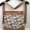 Szíves, sok zsebes variálható hátizsák/oldaltáska, Anne Variálható, sok zsebes hátizsák/oldaltás...