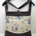 Provence Garden - variálható midi trapéz 3inOne hátizsák/oldaltáska, Anne Variálható, sok zsebes 3inOne hátizsák/ol...