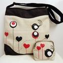 Valentin madaras, szíves válltáska, cross bag, tarisznya szett, Anne Midi Crossbody táskák - KÉSZLETEN!  Valent...