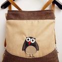 Kajla bagoly - 3inOne variálható hátizsák/oldaltáska/válltáska, Mesés táskák - 3inOne variálható hátizsák/o...