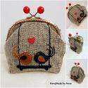 Szerelmes madaras, candy beads kapcsos pénztárca, táska, Mesés tarsolyok- csatos pénztárcák - KÉSZLETE...