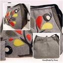 Duci madárkák a csodafánál BigBag oldaltáska, Táska, Válltáska, oldaltáska, Tarisznya, Anne BigBag XXL táskák - RENDELHETŐ!  A táska magas minőségű, olasz tweed szövetből készült egy korá..., Meska