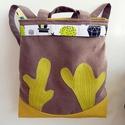 Kaktuszok - variálható Maxi Trapéz 3inOne hátizsák/oldaltáska/válltáska, Táska, Ruha, divat, cipő, Hátizsák, Válltáska, oldaltáska, Anne 3inOne Maxi Trapéz táskák Új - KÉSZLETEN!   Trapéz formájú táskám variálható, ismét megújult fo..., Meska
