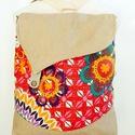 Mandalák - 3:1  variálható hátizsák/oldaltáska 3inOne, Táska, Ruha, divat, cipő, Hátizsák, Válltáska, oldaltáska, Anne Maxi Trapéz  hippi kollekció - KÉSZLETEN!  Maxi Trapéz hátizsák velúr mandala virágokkal - limi..., Meska