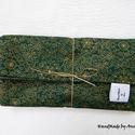 Papírzsebkendő tartó csomag - Zöld arannyal zsákban, Táska, Dekoráció, Karácsonyi, adventi apróságok, Ünnepi dekoráció, KÉSZLETEN - ÚJRA megérkeztek boltomba a papírzsebkendő tartók, most szettben karácsonyi mintával, aj..., Meska