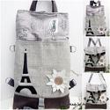 Chameleon - shopping backpack 5:1 Párizsban, Táska, Ruha, divat, cipő, Hátizsák, Válltáska, oldaltáska, Chameleon Shopping Bag/Backpack - ÚJ - KÉSZLETEN!  Az idei kollekcióban a nagy pakolós shoping táská..., Meska