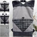 Háromszög Tote backpack hátizsák, Táska, Ruha, divat, cipő, Hátizsák, Tote Backpack 2:1 - KÉSZLETEN!  Ismét egy új hatalmas pakolós táska, melyet egyrészt használhatsz ha..., Meska