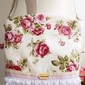 Barbie - rózsás Midi 2inONE oldaltáska, válltáska, Anne Midi vintage táska - KÉSZLETEN!   Rózsa mi...