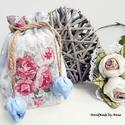 Rózsás - tulipános zsák, Táska, Szerelmeseknek, Pénztárca, tok, tárca, Erszény, AnneHome - Tulipános zsák - KÉSZLETEN!  Rózsás mintás lonetta vászonból készült több rétegű erszény,..., Meska