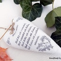 Házi Áldás - vintage dekorációs szív, Anne Home - Dekorációk - KÉSZLETEN!  Natúr fes...
