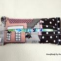 Papírzsebkendő tartó - Macskák és pöttyök, Zsebkendő tartók - KÉSZLETEN!  Macskák Párizs...
