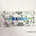 Papírzsebkendő tartó - zöld virágos, KÉSZLETEN - ÚJRA megérkeztek boltomba a papírz...
