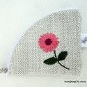 Egy virág - hímzett kulcstartó, Virágos kulcstartók - KÉSZLETEN!  Kulcstartók,...