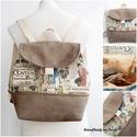 Kedvenc nyeregfedeles hátizsák retro Párizsi divat, KÉSZLETEN!  Kedvenc nyári hátizsákokat készí...