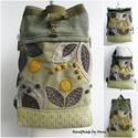 Pachwork, nemezelt virágos - Chameleon rolltop variálható 5:1, Chameleon Rolltop/Backpack/Variálható pántos - ...