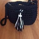 Horgolt női táska, Táska, Válltáska, oldaltáska, Pólófonalból készített női táska. Bármilyen színben, akár vállpánttal vagy a nélkül is..., Meska