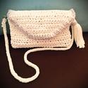 Horgolt női táska, Táska, Válltáska, oldaltáska, Horgolás, Pólófonalból készült csinos női táska. Mérete: kb 25x15 cm Bármilyen színben rendelhető., Meska