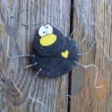 szerencsehozó pók - dekoráció, Otthon, lakberendezés, Dekoráció, Dísz, Kerti dísz,  A pókok szeretnek menedéket keresni a fáskamrában...  Sokan nem szeretjük őket, félünk től..., Meska