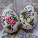 Viktória (Herendi) mintás szalvétával díszített húsvéti tojások, Dekoráció, Ünnepi dekoráció, Húsvéti díszek, Viktória (Herendi) mintás szalvétával díszített húsvéti tojások.Az alapja hungarocell/polis..., Meska