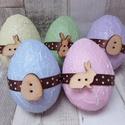 Repedezett hatású pasztell színű húsvéti tojások, Dekoráció, Ünnepi dekoráció, Húsvéti díszek,   Repedezett hatású pasztell színű húsvéti tojások.Az alapja hungarocell/polisztirol,így nem..., Meska