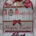 Húsvéti,tavaszi ajtódísz,üdvözlőtábla,függődísz, Otthon, lakberendezés, Húsvéti díszek, Ajtódísz, kopogtató, Húsvéti ,tavaszi ajtódísz,ablakdísz,függődísz,üdvözlőtábla,kopogtató. Mindkét oldalán..., Meska