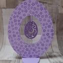 Húsvéti dekoráció tojás tojással a közepén  orgonalila színben virág mintával díszítve, Húsvéti díszek, Húsvéti dekoráció  tojás tojással a közepén orgona lila színben és ibolya lila apró virá..., Meska