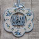 Virág alakú dísz Mami szeretlek felirattal, Dekoráció, Anyák napja, Dísz, Virág  alakú dísz Mami szeretlek felirattal többféle mintával dekupázs/decoupage technikával..., Meska