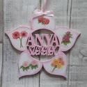 Virág alakú dísz  Anya szeretlek  felirattal, Dekoráció, Dísz,  Virág  alakú dísz Anya szeretlek felirattal többféle mintával dekupázs/decoupage technikáva..., Meska