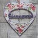 Nagy szív alakú dísz Édesanyámnak  vagy Szeretlek felirattal, Dekoráció, Szerelmeseknek, Anyák napja, Dísz,  Szív  alakú dísz Édesanyámnak  vagy Szeretlek felirattal többféle mintával dekupázs/decoup..., Meska