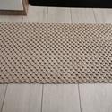 Makramé szőnyeg, Otthon & lakás, Lakberendezés, Lakástextil, Szőnyeg, Csomózás, Kézzel csomózott bézs szőnyeg, mely prémium minőségű, újrahasznosított zsinórfonalból készült. Mére..., Meska