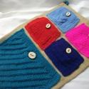 Zsebes tároló kötött zsebekkel. Egy kicsit másként!, Otthon & lakás, Lakberendezés, Lakástextil, Dekoráció, Ha szereted a színeket, imádni fogod!  Különböző harsogó színű fonalakból, különböző mintákkal kötöt..., Meska