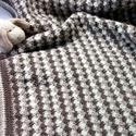 Barna, csíkos  horgolt takaró,  babatakaró, hatalmas , Gyerek & játék, Gyerekszoba, Falvédő, takaró, Vajszínű, drapp és középbarna árnyalatakból készitettem ezt a finom színezésű csíkos, meleg baba plé..., Meska