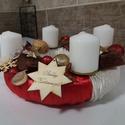 Adventi koszorú, Dekoráció, Karácsonyi, adventi apróságok, Ünnepi dekoráció, Átmérő 20 cm, Meska