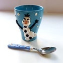 Olaf karácsonya készlet, Konyhafelszerelés, Mindenmás, Otthon, lakberendezés, Bögre, csésze, Gyurma, Olaf már nagyon várja a telet. Ünnepeljétek együtt a karácsonyt! Ezzel a süthető gyurmával díszítet..., Meska