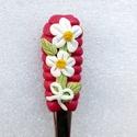 Virág teáskanál, Otthon & lakás, Konyhafelszerelés, A teáskanál díszítését kézzel formáztam süthető gyurmából. A kanál mindennapos használatra alkalmas,..., Meska