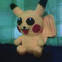 Horgolt mesefigura , Játék, Játékfigura, Pokémon-rajongóknak, Pikachu kedvelőknek, kicsiknek, nagyoknak .... :) 19 cm magas, horgolással kész..., Meska