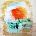Szépség és a szörnyeteg - rózsa akvarell farost 30x40 cm, Képzőművészet, Festmény, Akvarell, Farostra készített akvarell kép, amit a mese ihletett :), Meska