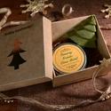 Ajándékdoboz kézműves naturkozmetikumokkal, Szépségápolás, Karácsonyi, adventi apróságok, Kozmetikum, Szappan, tisztálkodószer, Karácsonyi ajándékdobozka kézműves natur kozmetikumokkal. Tartalma : 1 db kézműves kecsketeje..., Meska
