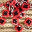 hosszú nyaklánc, Ékszer, Nyaklánc, piros howlit gyöngykeretes gyöngyös hosszú nyaklánc. Méret: kb 100 cm hosszú (amennyiben hosszú lehe..., Meska