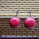 francia kapcsos fekete fülbevaló , Ékszer, Fülbevaló,  Francia kapcsos fülbevaló 12 mm-s  cabochon. Termékek átvételére személyesen (Debrecenben) vagy pos..., Meska