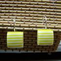 francia kapcsos fülbevaló , Ékszer, Fülbevaló,   francia kapcsos fülbevaló 12 x 12  mm-s  cabochonnal   , Meska