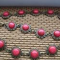 nyaklánc, Ékszer, Nyaklánc, Ékszerkészítés, nyaklánc piros  10 mm cabochonnal.  Méret Hossza : 43 cm+3 cm lánchosszabító, Meska