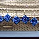 fülbevaló , Ékszer, Fülbevaló,   fülbevaló 12 x 12  mm-s gyanta  cabochonnal lehet választani  ezüst ,bronz és rosa gold alap ..., Meska